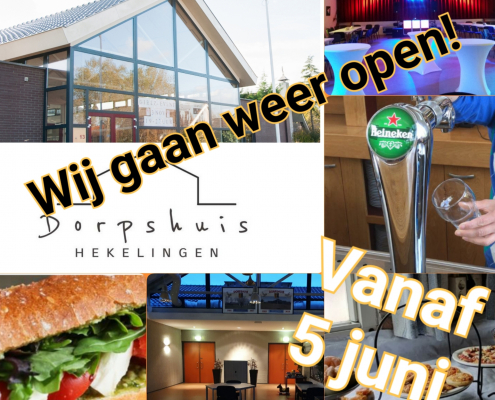 Dorpshuis Hekelingen gaat weer open